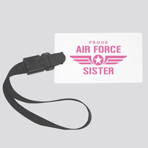 Proud Air Force Sister W [pink] Large Luggage Tag